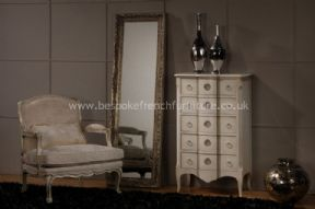 Glamour 5 Drawer High Chest